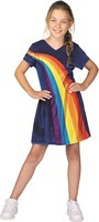 Verkleedjurk K3 Regenboog blauw: maat 116 (3-5 jaar)