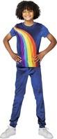 Verkleedpak K3 Regenboog blauw: maat 134 (6-8 jaar)